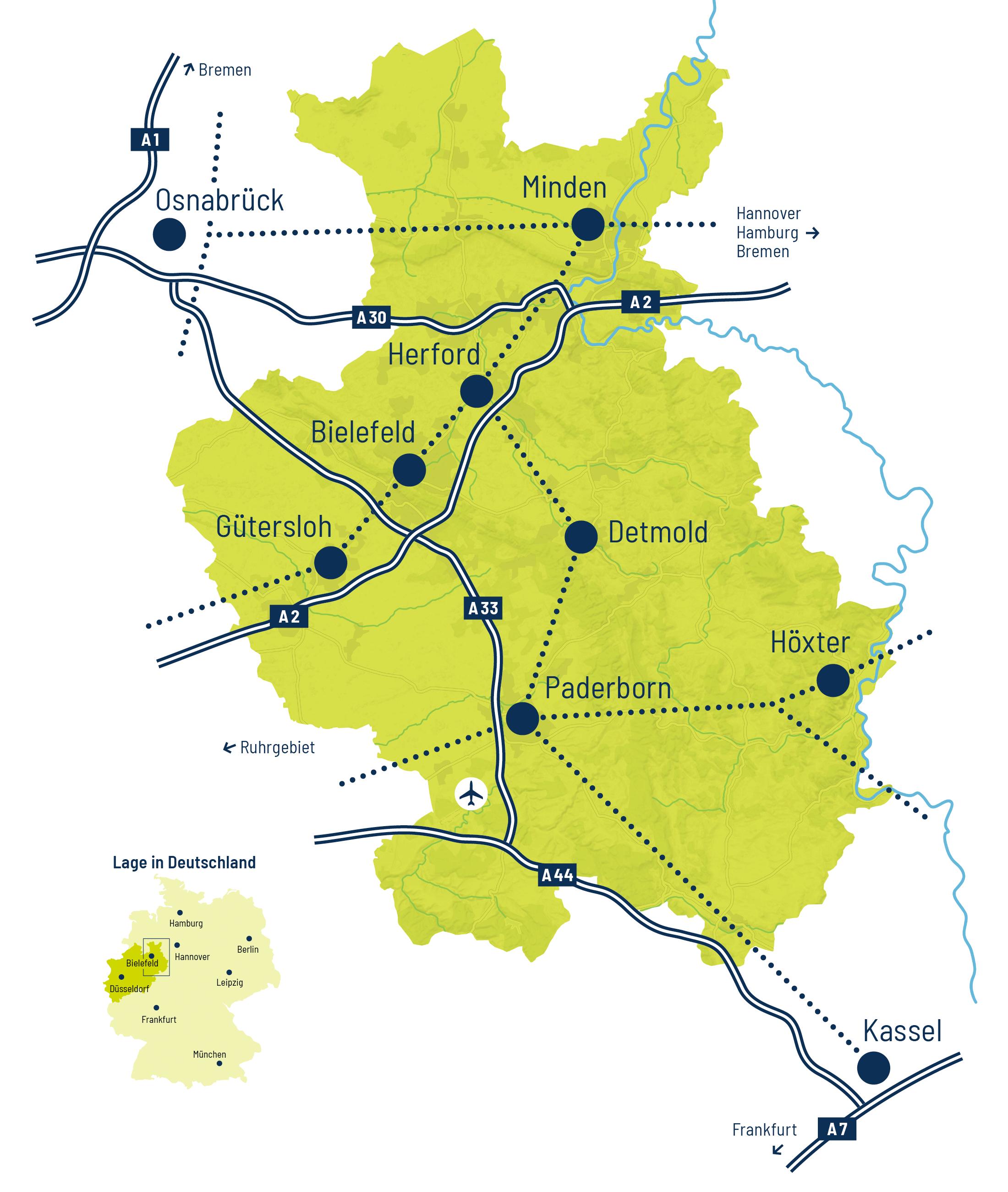 Karte OstWestfalenLippe